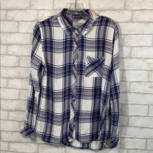 Rails hunter long sleeve button down shirt size M